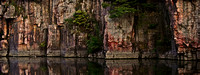 Palisades State Park, SD Quartzite Cliff Wall Panorama #2